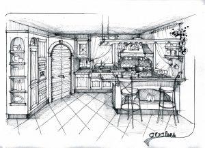 Progetto cucine in muratura